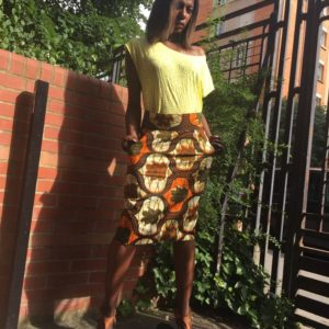 jupe en wax tissus africains sur yankady