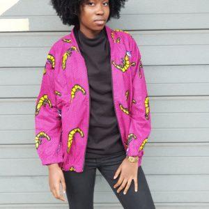 bombers unisexe en tenue africaine wax