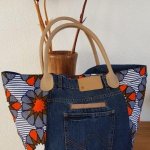 sac cabas wax africain