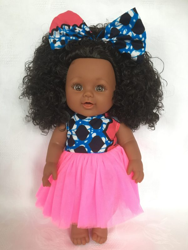 poupee Afro pagne wax